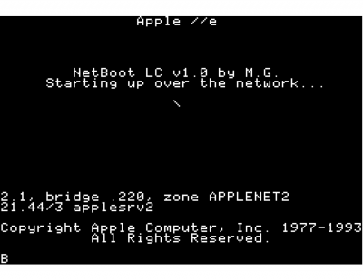 NetBoot LC Screen Shot